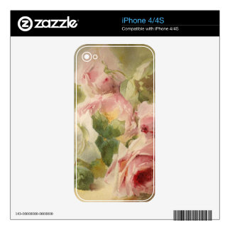 Vintage Victorian Rose Watercolor iPhone 4S Decal