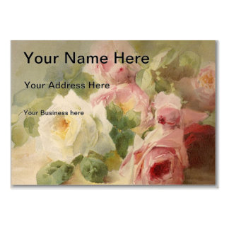 Vintage Victorian Rose Watercolor Large Business Card