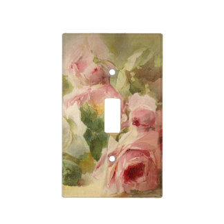 Vintage Victorian Rose Watercolor Light Switch Cover