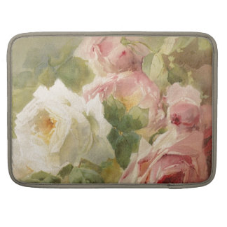 Vintage Victorian Rose Watercolor MacBook Pro Sleeve