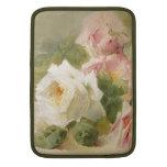 Vintage Victorian Rose Watercolor MacBook Sleeve