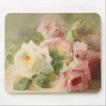 "Vintage Victorian Rose Watercolor Mouse Pad<br><div class=""desc"">This is an absolutely amazing Watercolor of a bouquet of roses from the Victorian era.  It is truly one of the most feminine,  shabby chic,  and delicate vintage images I have found.  A perfect choice for someone who is very feminine,  classy,  loves pink,  and flowers (roses).</div>"