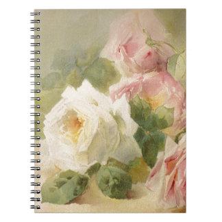 Vintage Victorian Rose Watercolor Notebook