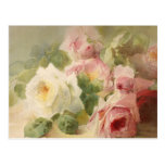 Vintage Victorian Rose Watercolor Post Cards