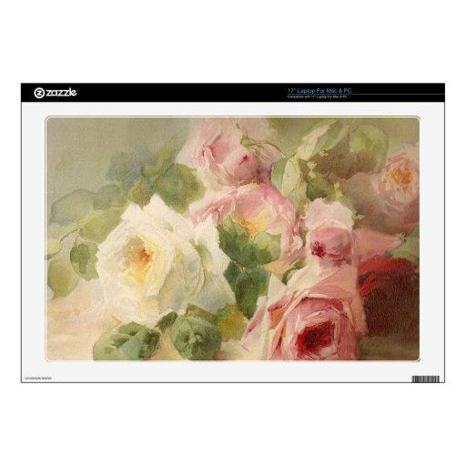 Vintage Victorian Rose Watercolor Skin For Laptop
