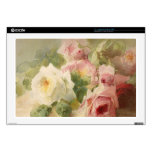 "Vintage Victorian Rose Watercolor Skin For 17"" Laptop"