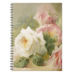 Vintage Victorian Rose Watercolor Spiral Note Book