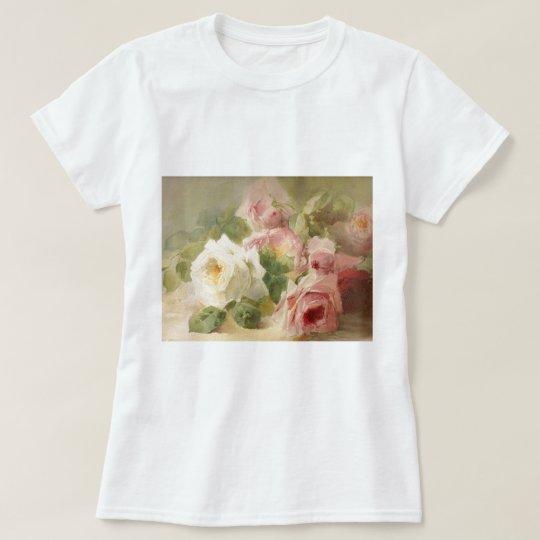 Vintage Victorian Rose Watercolor T-Shirt