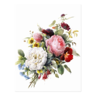Vintage Victorian Roses and other beautiful flower Postcard