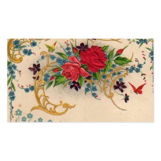 Vintage Victorian Roses Business Card