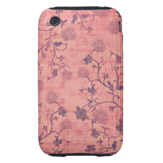 Vintage Victorian Roses Tough iPhone 3 Covers