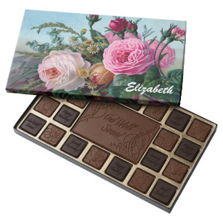 Vintage Victorian Roses Custom Chocolate