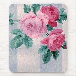 Vintage Victorian Roses Wallpaper Mousepad