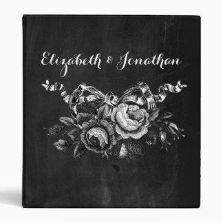 Vintage Victorian Roses Wedding 3 Ring Binder