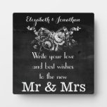 Vintage Victorian Roses Wedding Guestbook Photo Plaques