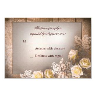 vintage victorian roses wedding rsvp card