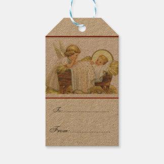 vintage,victorian,rustic,christmas,pattern, Jesus Gift Tags
