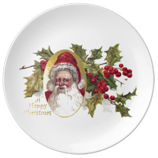 Vintage Victorian Santa Claus, c. 1906 Christmas Dinner Plate