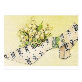 Vintage Victorian Sassy Cinderella Slipper Postcard