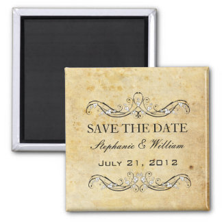 Vintage Victorian Save The Date 2 Inch Square Magnet