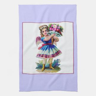 Vintage Victorian Scrapbook Girl Kitchen Towel