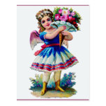 Vintage Victorian Scrapbook Girl Postcard