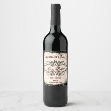 Halloween Themed Vintage Victorian Skull Wine Label