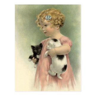 VINTAGE VICTORIAN Stray Pet Adopt Rescue  POSTCARD