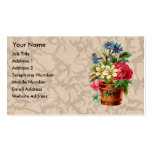 Vintage Victorian style flower display Business Card Templates