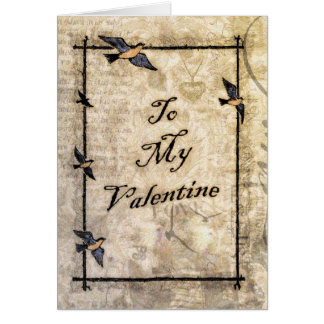 vintage victorian style Valentine Greeting Cards