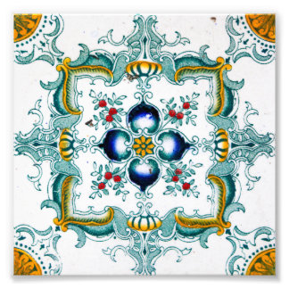 Vintage Victorian Style Wall Tile Photographic Print