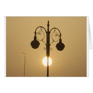 Vintage Victorian Sunset street light.png Card