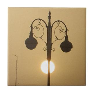 Vintage Victorian Sunset street light.png Ceramic Tile