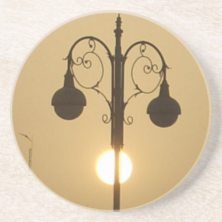Vintage Victorian Sunset street light.png Drink Coaster