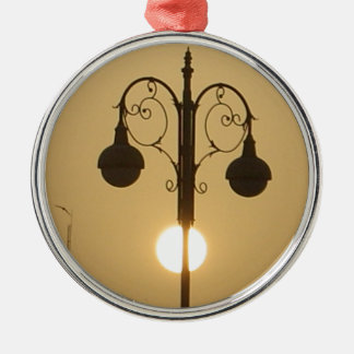Vintage Victorian Sunset street light.png Metal Ornament