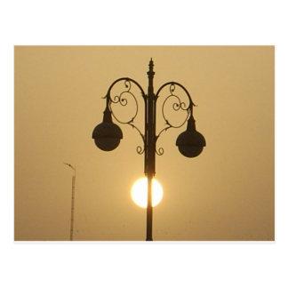 Vintage Victorian Sunset street light.png Postcard