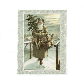 Vintage Victorian Swedish Santa Claus Fleece Blanket