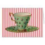 Vintage Victorian Tea Cup Greeting Cards