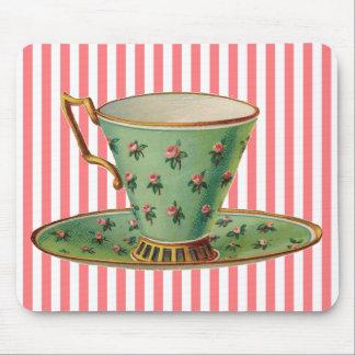 Vintage Victorian Tea Cup Mouse Pad
