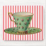 Vintage Victorian Tea Cup Mousepad