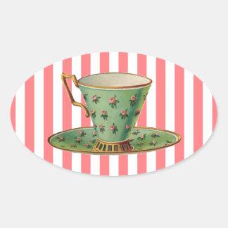 Vintage Victorian Tea Cup Stickers