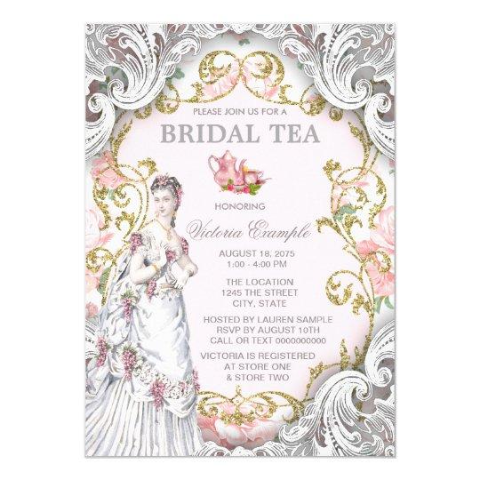 Vintage Victorian Tea Party Invitation
