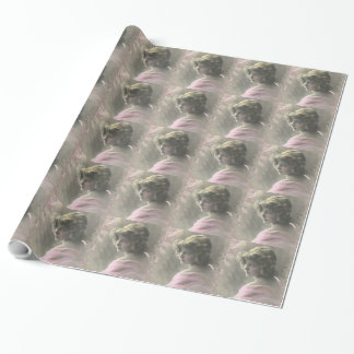 Vintage Victorian Teenage Girl Pink Wrapping Paper