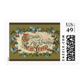 Vintage Victorian, To Wish You a Happy New Year Postage