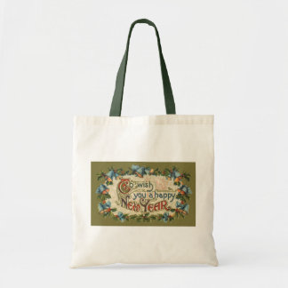 Vintage Victorian, To Wish You a Happy New Year Tote Bag