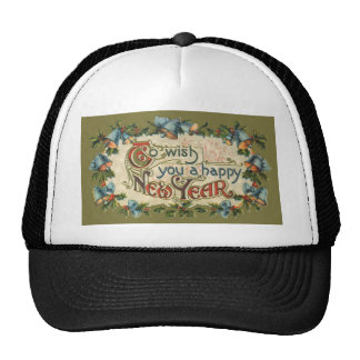 Vintage Victorian, To Wish You a Happy New Year Trucker Hat