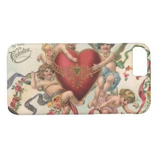 Vintage Victorian Valentines, Cherubs Angels Heart iPhone 8/7 Case