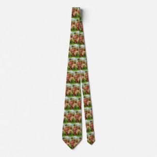 Vintage Victorian Valentines Day Angels Heart Rose Neck Tie