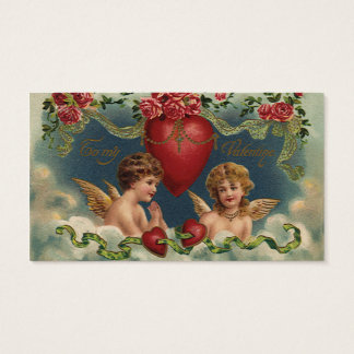 Vintage Victorian Valentine's Day Angels in Heaven Business Card