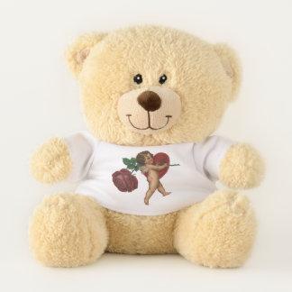 Vintage Victorian Valentine's Day Cherub and Rose Teddy Bear